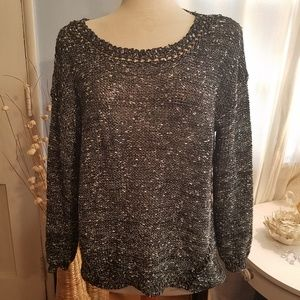 Alberto Makali - Silver and Black Pullover Sweater